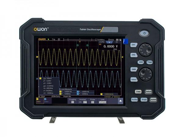 OWON TAO3122 / TAO3122A 120MHz 2 Kanal Tablet Oszilloskop mit Touchscreen + Decoder KIT