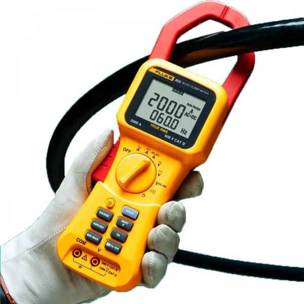Fluke 355 Strommesszangen 2000 A Stromzange Clampmeter