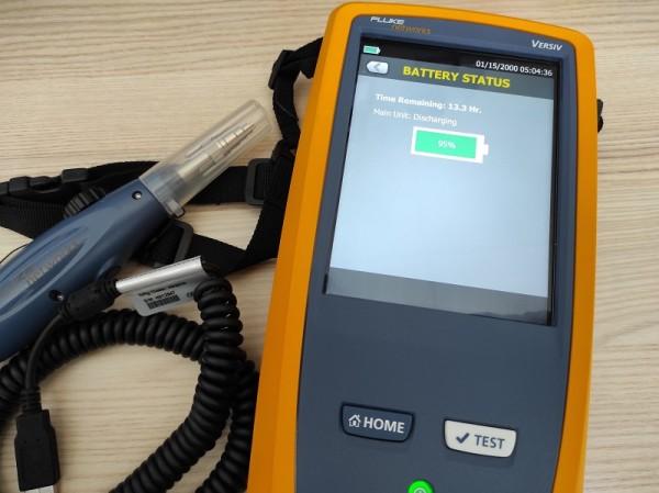 Fluke FI-7000 Pro FiberInspector PASS/FAIL-Zertifizierung von Glasfaserstecker-Endflächen