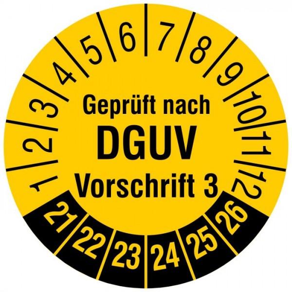DGUV V3 Prüfplaketten Prüfetiketten Ø 30mm, 2021-2026 1000Stück Fluke Gossen