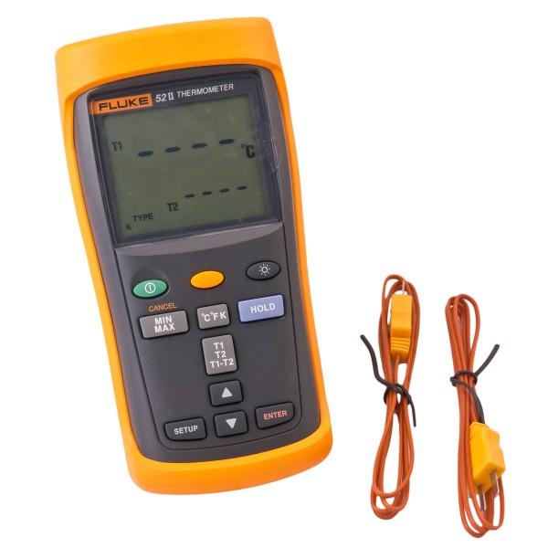 Fluke 52II 52 Thermometer 2-Kanal Anzeige in °C.°F oder Kelvin -250 bis +1372°C