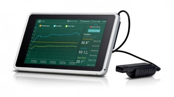 Extech RH550 Feuchtigkeits- / Temperatur Taupunkt Diagramm Rekorder 16Gb + Touchscreen