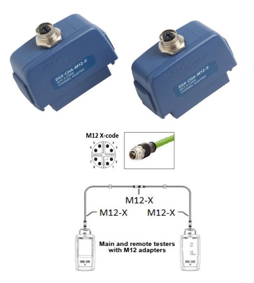 Fluke DSX-CHA-M12-X-S 8-polige X-kodierte Adapter für industrielles Ethernet