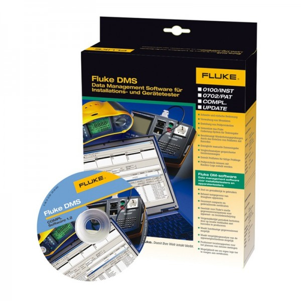 Fluke DMS 1.8 Complete PC Software für Gerätetester + Installationstester 4737687