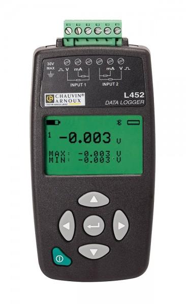 Chauvin Arnoux Prozess-Datenlogger L452 4-20 mA, 0-10 V Messgeber USB+Bluetooth