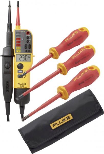 Fluke T150VDE/SD Aktionsset Autom. Spannungsprüfer + Schraubendreher + Falttasche T150