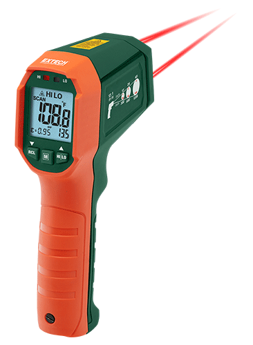 Extech IR320 wasserdichtes IR-Thermometer mit High / Low-Alarm -20 bis 650 ° C