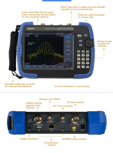 OWON HSA1016-TG mobiler Spektrum Analyser 9kHz - 1,5 GHz mit Tracking Generator