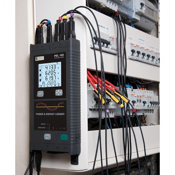 Chauvin Arnoux PEL 102 Datenlogger für Strom Leistung Frequenz Oberwellen Leistung Spannung