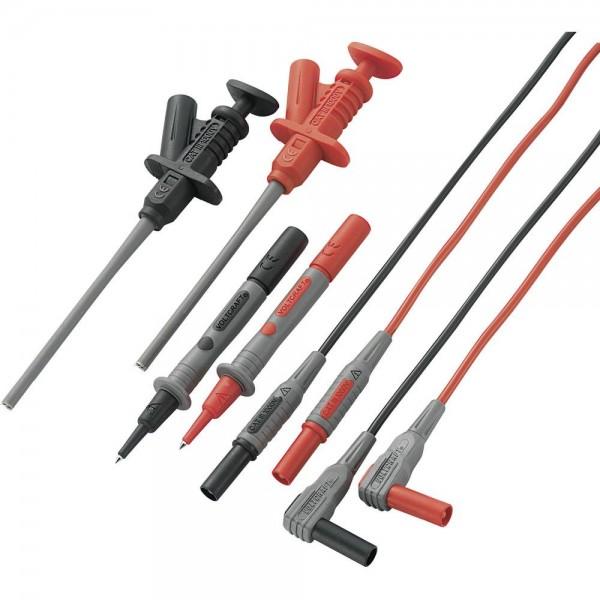 VOLTCRAFT MS-6 Sicherheits-Messleitungs-Set 1.2 m Schwarz, Rot
