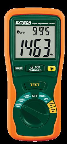 Extech 380260 Tragbares digitales Megohmmeter 1000V bis 2000MΩ