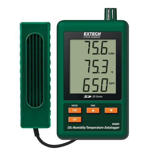 Extech SD800 CO2 Feuchte Temperatur Datenlogger Data Logger SD-800...