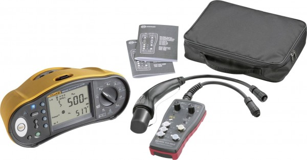 Fluke 1664 DE-EV KIT VDE-Prüfgeräte-Set 1664FC + EV520 geeignet für Ladestationen